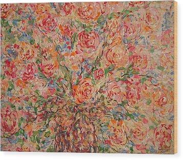 Full Bouquet. Wood Print