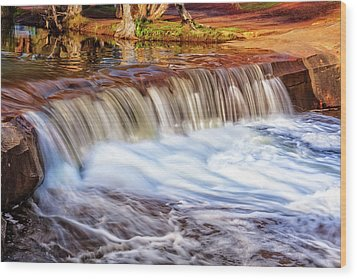 Wood Print featuring the photograph Full Flow, Noble Falls, Perth by Dave Catley