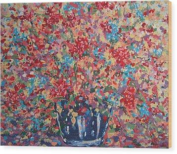 Full Flower Bouquet. Wood Print