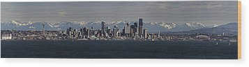 Full Frontal Seattle Wood Print by James Heckt