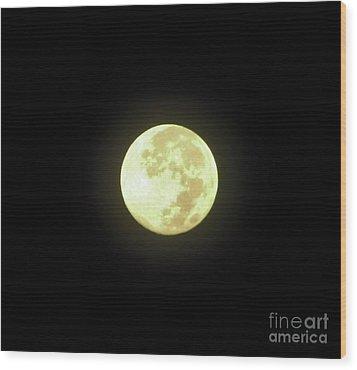 Full Moon August 2014 Wood Print