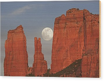 Full Moon In The Cathedral Wood Print