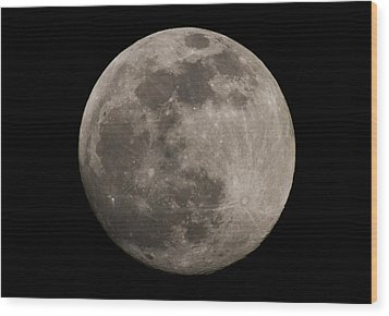 Wood Print featuring the photograph Full Moon by Nathan Rupert