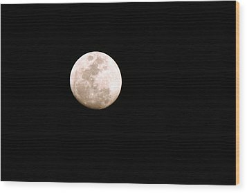 Wood Print featuring the photograph Full Moon by Riana Van Staden