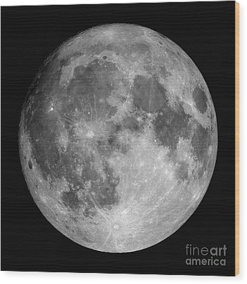Full Moon Wood Print by Roth Ritter