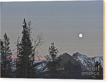 Full Moon Shinning Down Wood Print