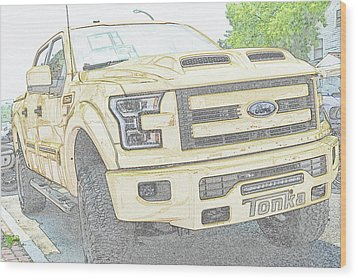 Wood Print featuring the photograph Full Sized Toy Truck by John Schneider
