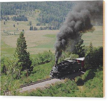 Full Steam Ahead Wood Print