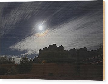 Wood Print featuring the photograph Full Streak by Gary Kaylor
