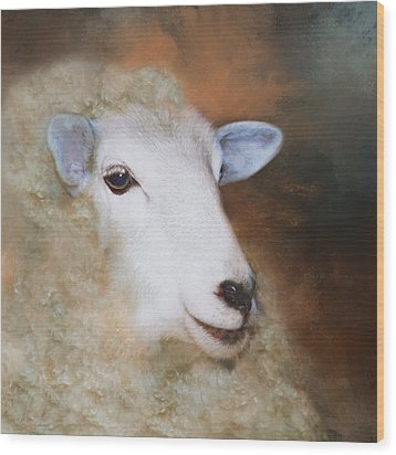 Wood Print featuring the photograph Fully Woolly by Robin-Lee Vieira
