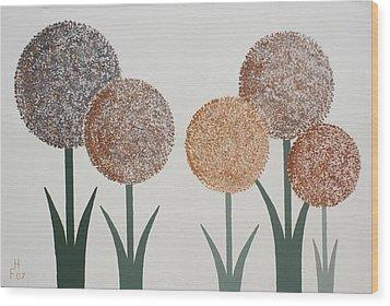 Fun Colours  3 Wood Print