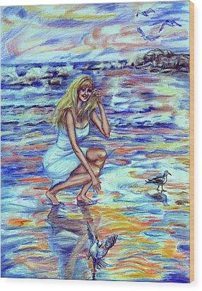Fun In The Sun Wood Print by Yelena Rubin