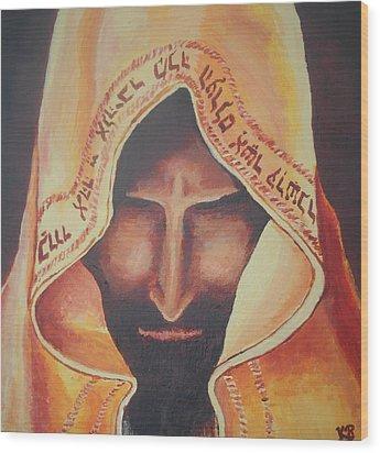 Fundraise Series 3 Praying Jew Wood Print by Kerstin Berthold