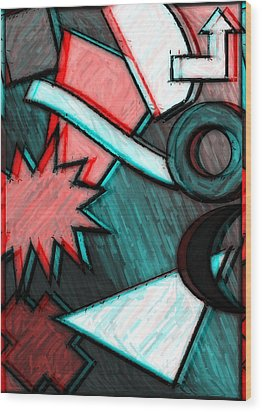 Funky Fanfare Wood Print by Kyle West