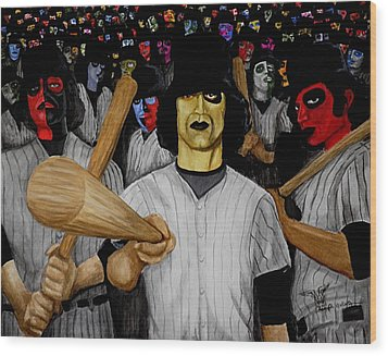 Furies Up To Bat Wood Print by Al  Molina