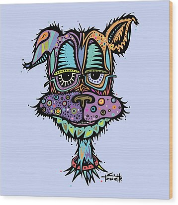 Furr-gus Wood Print by Tanielle Childers