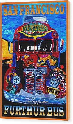 50th Anniversary Further Bus Tour Wood Print