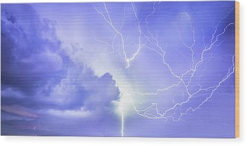 Fury Of The Storm Wood Print