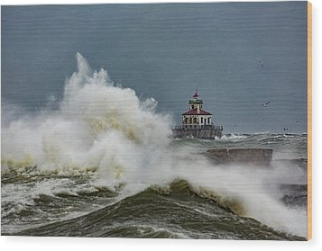 Wood Print featuring the photograph Fury On The Lake by Everet Regal