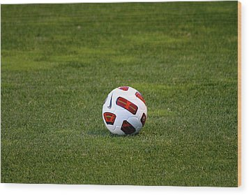 Futbol Wood Print