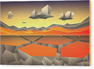 Future Horizon Wood Print by Milton Thompson
