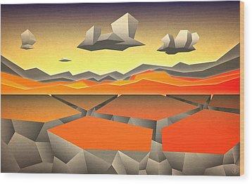 Wood Print featuring the digital art Future Horizon by Milton Thompson