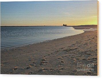 Fuzeta Beach Sunset Scenery. Portugal Wood Print by Angelo DeVal