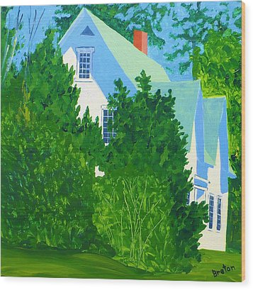 Gables Wood Print by Laurie Breton
