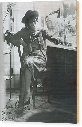Gabrielle Coco Chanel, C. Mid 1960s Wood Print by Everett