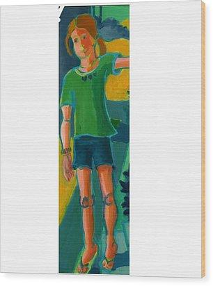 Gabrielle Wood Print by Debra Bretton Robinson