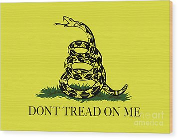 Gadsden Dont Tread On Me Flag Authentic Version Wood Print