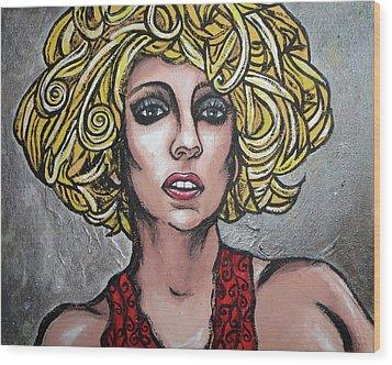 Gaga Wood Print by Sarah Crumpler