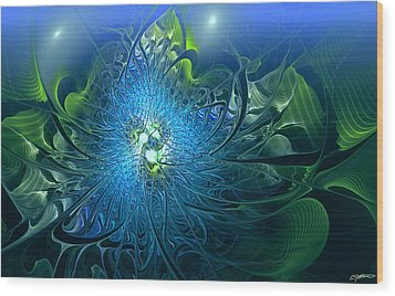 Gaia's Emergence Wood Print by Casey Kotas