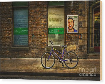 Gaiety Bicycle Wood Print