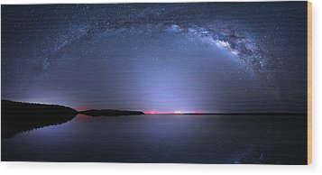 Wood Print featuring the photograph Galactic Lake by Mark Andrew Thomas