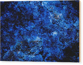 Galactic Night Abstract Wood Print by Bruce Pritchett