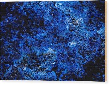 Galactic Night Abstract Wood Print