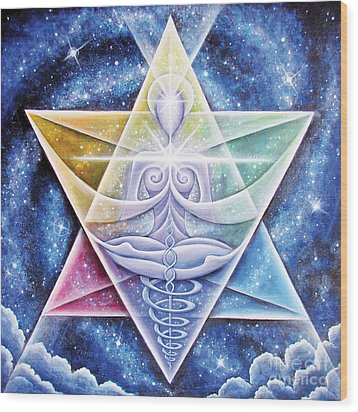 Galactic Starseed Goddess Wood Print