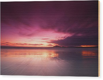 Galapagos View At Sunset Wood Print by Andre Distel Photography