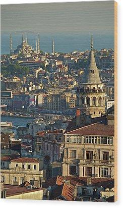 Galata Tower Wood Print by Photo by Bernardo Ricci Armani