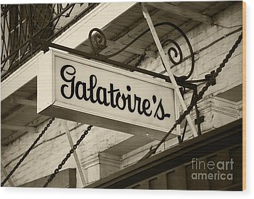 Galatoire's Friday Brunch Wood Print by Leslie Leda