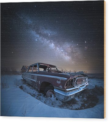 Wood Print featuring the photograph Galaxie 500 by Aaron J Groen