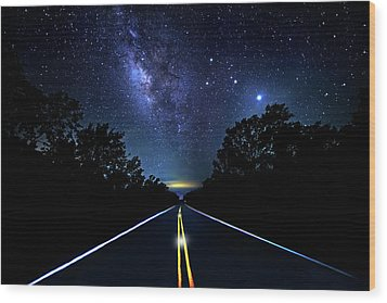Wood Print featuring the photograph Galaxy Highway by Mark Andrew Thomas