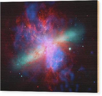 Wood Print featuring the photograph Galaxy M82 by Marco Oliveira