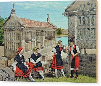 Galicia La Bella Wood Print by Tony Banos