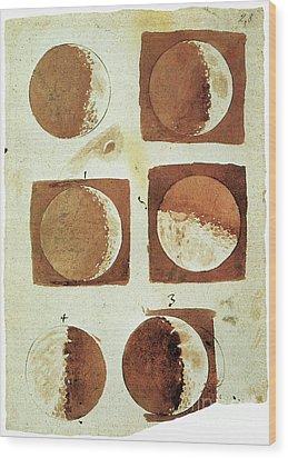 Galileo - Moon Wood Print by Granger