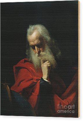 Galileo Galilei Wood Print by Ivan Petrovich Keler Viliandi