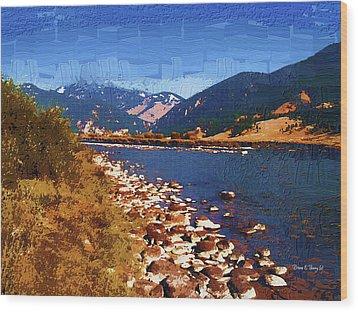 Gallatin River Dreams Wood Print by Diane E Berry