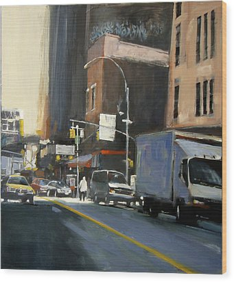 Gallery District Wood Print by Patti Mollica