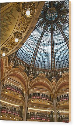 Gallery Lafayette Ceiling IIi Wood Print by Louise Fahy